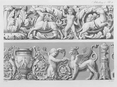 Designs for Classical Friezes, from 'Precision Book of Drawings', 1856 (Engraving)