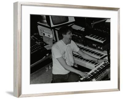 German Electronic Musician Klaus Schulze at the Forum Theatre, Hatfield, Hertfordshire, 1983-Denis Williams-Framed Photographic Print