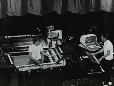 German Electronic Musician Klaus Schulze at the Forum Theatre, Hatfield, Hertfordshire, 1983-Denis Williams-Photographic Print
