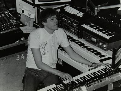 German Electronic Musician Klaus Schulze at the Forum Theatre, Hatfield, Hertfordshire, 1983-Denis Williams-Photographic Print