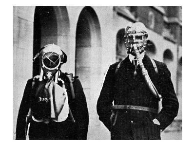 German Gas Masks--Giclee Print