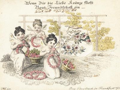 German Greetings Card--Giclee Print