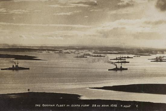 German High Seas Fleet Interned at Scapa Flow, Orkney, 28 November 1918--Photographic Print