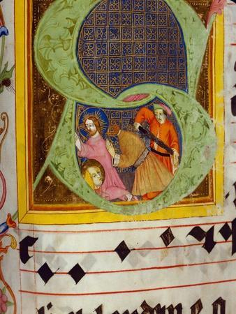 Historiated Initial 'S' with the Decollation of Saint John the Baptist
