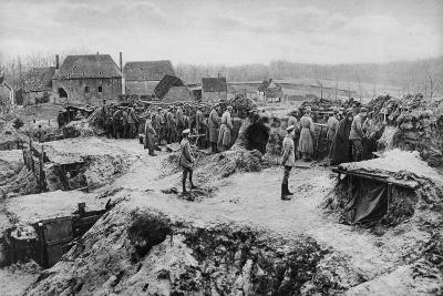 German Infantry Shelters, World War I, 1915--Giclee Print
