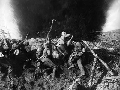 German Infantrymen in a Trench on the Western Front During Wwi, France, 1914-16