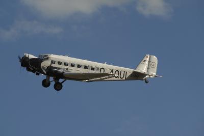 German Junkers Ju 52 Flying over Duxford, England-Stocktrek Images-Photographic Print