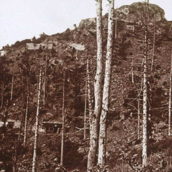 German lines, c1914-c1918-Unknown-Photographic Print
