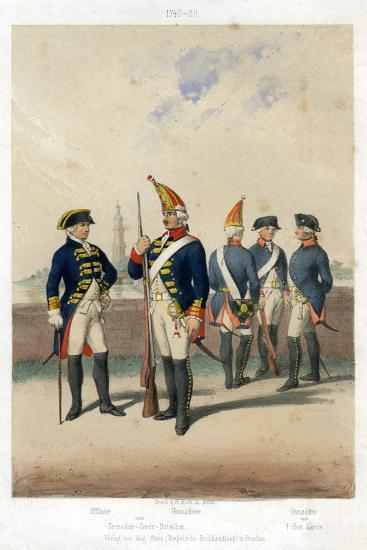 German Military Uniforms, 1740-1786-W Korn-Giclee Print
