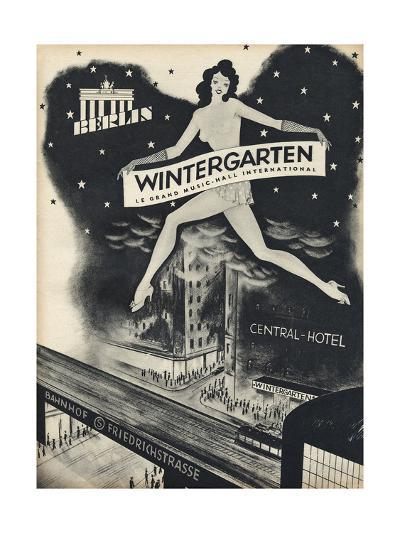 German Music Hall Advert--Giclee Print