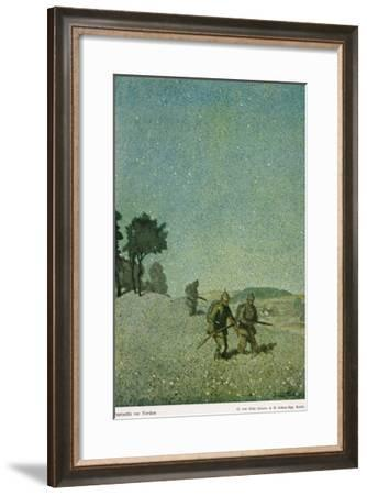 German Night Patrol Before Verdun-O. Van Hout-Framed Giclee Print