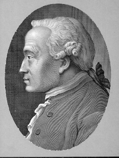 German Philosopher and Metaphysician Immanuel Kant--Photographic Print