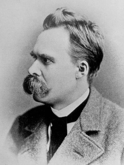 German Philosopher Friedrich Nietzsche, Posing at the Time of His Writing, 1844-1900--Photographic Print