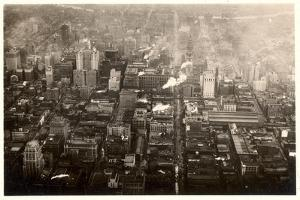 Aerial Photo of Downtown Philadelphia, Taken from the LZ 127 Graf Zeppelin, 1928 by German photographer