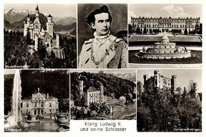Ak König Ludwig II Und Seine Schlösser, Neuschwanstein, Hohenschwangau by German photographer