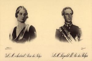 Ak S.M. Astrid Reine Des Belges, S.M. Léopold III. Roi Des Belges by German photographer