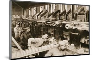 From the German Side: Making War Bread in a Field-Bakery of Von Hindenburg's Army by German photographer