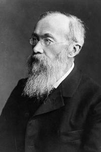 Portrait of German Psychologist Wilhelm Wundt by German photographer