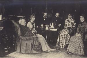 Portrait of Richard Wagner with Friends and Family by German photographer