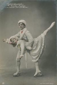 Postcard of Ice Skaters, Sent in 1913 by German photographer