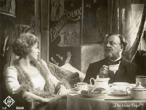 """Still from the Film """"The Blue Angel"""" with Marlene Dietrich and Emil Jannings, 1930 by German photographer"""