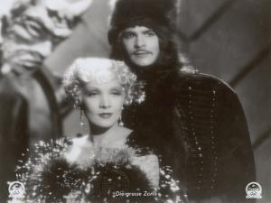 """Still from the Film """"The Scarlet Empress"""" with Marlene Dietrich and John Lodge, 1934 by German photographer"""