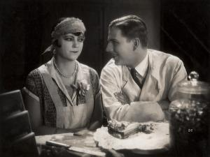 """Still from the Film """"Tragedy of the Street"""" with Asta Nielsen and Werner Pittschau, 1927 by German photographer"""