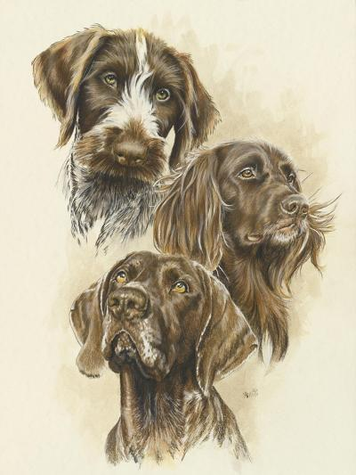 German Pointers-Barbara Keith-Giclee Print