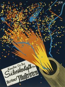 German Poster Advertising the New Year's Issue of the Periodical 'Berliner Illustrierte Zeitung'
