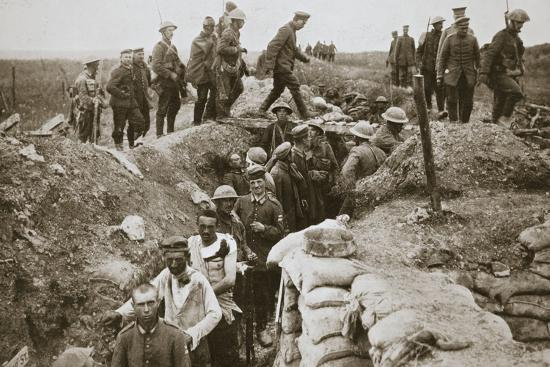 German prisoners brought in from Contalmaison, Somme campaign, France, World War I, 1916-Unknown-Photographic Print