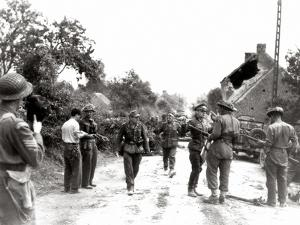 German Prisoners of War Go to the Battle Group of the 4th Canadian Armoured Division