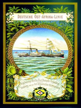 Poster Advertising the German East Africa Line, 1890 by German School