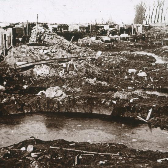 German shelter, Noordschote, Flanders, Belgium, c1914-c1918-Unknown-Photographic Print