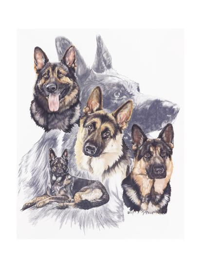 German Shepard-Barbara Keith-Giclee Print