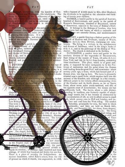 German Shepherd on Bicycle-Fab Funky-Art Print