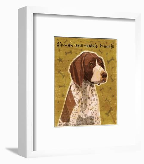 German Shorthaired Pointer-John W^ Golden-Framed Art Print