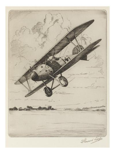 German Single-Seat Fighter, Armed with Two Machine Guns--Giclee Print