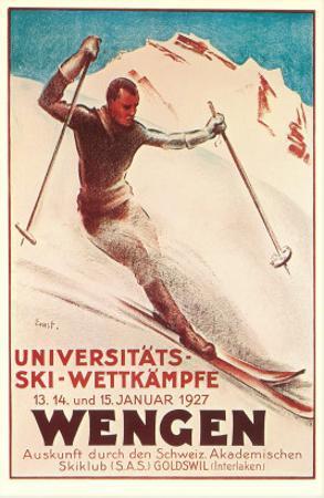 German Ski Poster