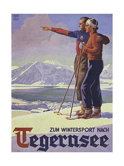 German Ski Poster-Harry Mayer-Giclee Print