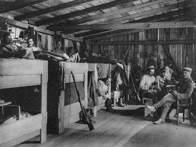 German Soldiers in a Reduit Shelter, Vosges, France, World War I, 1916--Giclee Print