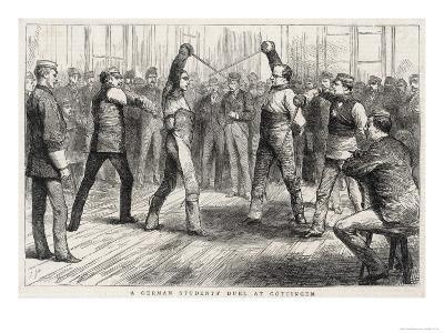 German Student's Duel at Gottingen--Giclee Print