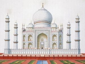 The Taj Mahal (Colour Litho) by German
