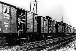 German Troops Arriving by Train, Paris, August 1940
