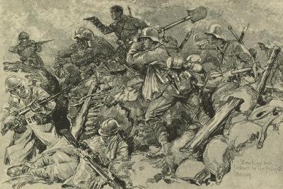 German Troops Attacking French Front Line--Giclee Print