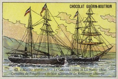 Germania and Hansa, Ships of Carl Koldewey's German North Polar Expedition, 1869-1870--Giclee Print