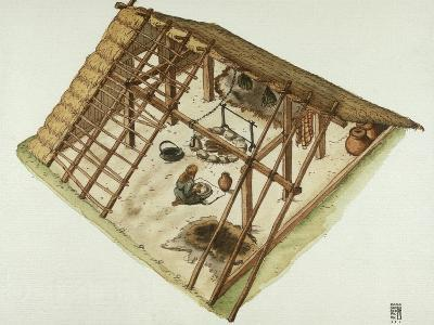 Germanic Alemannian and Goth Dwelling, 3rd Century--Giclee Print