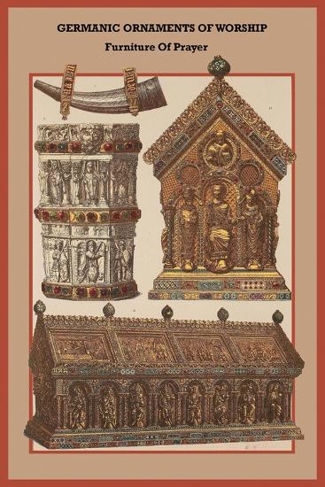 Germanic Ornaments of Worship Furniture of Prayer-Friedrich Hottenroth-Art Print