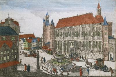 Germany, Aachen, Square with Town Hall and Karlsbrunner, 1701--Giclee Print
