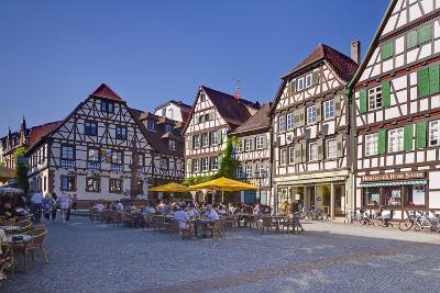 Germany, Baden-WŸrttemberg, Kraichgau (Region), Bretten (Village), Marketplace-Udo Siebig-Photographic Print
