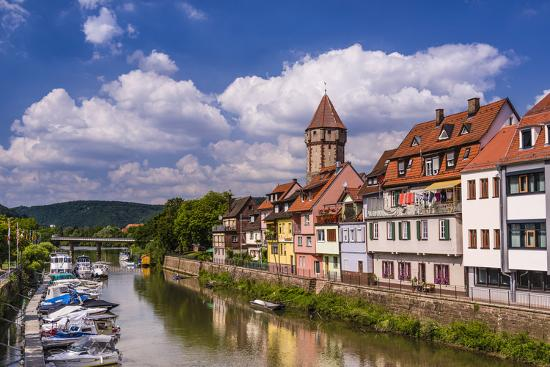 Germany, Baden-W?rttemberg, Main-Tauber-Region, Wertheim, Tauberufer-Udo Siebig-Photographic Print